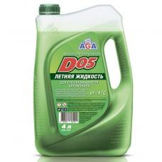AGA110D Жидкость летняя для стеклоомывателей автомобилей D05, готовая к применению 4 л
