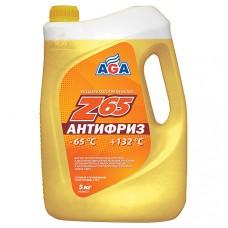 AGA-043Z 65 Антифриз (желтый) -65С до +132С 5л./5,3кг.PREMIX