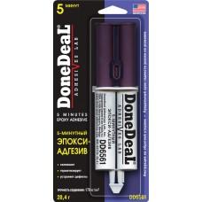 DD6561 5-мин.2-х комп. прозрач. эпокси-адгезив в шприце 28,4 г.