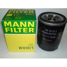 Фильтр маслянный Mann W610/1 (FIAT Sedici (189), SUBARU Justy I (KAD) + II (JMA, MS), Justy III (G3X), Justy IV, SUZ)