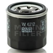 Фильтр маслянный Mann W67/2 (Chevrolet (Daewoo) all models >03,Matiz (Spark), Daihatsu all models >86, Suzuki all )