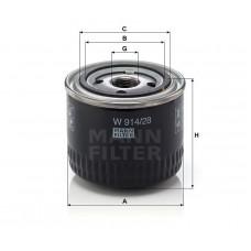 Mann W914/28 фильтр масляный
