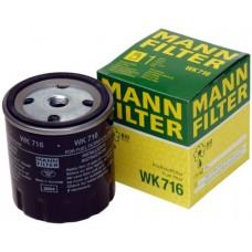 Фильтр топливный Mann WK716 (G-Klasse 79-93, MB-Serie >80, Transporter 207-210 71-96, Transporter 307-310 71-96)