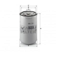 Mann WK724 фильтр топливный