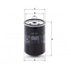 Mann WK731 фильтр топливный