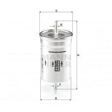 Mann WK830/7 фильтр топливный