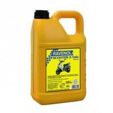 RAVENOL  2-Takt  Scooter минеральное моторное масло для скутеров и мопедов 5л.