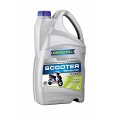 RAVENOL  2-Takt  Scooter  полусинтетическое моторное масло для скутеров и мопедов 4л.