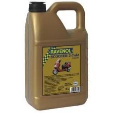 RAVENOL  2-Takt  Scooter  полусинтетическое моторное масло для скутеров и мопедов 5л.