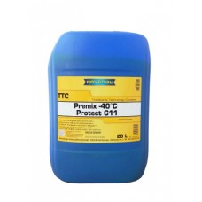 RAVENOL  антифриз TTC Premix (желтый готовый) 20л.