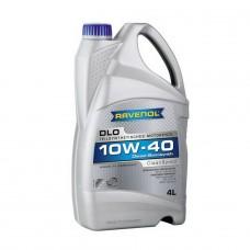 RAVENOL  DLO SAE 10W-40  дизельное полусинтетическое моторное масло  4л.