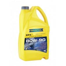 RAVENOL  Hyp.-EPX SAE 80W-90 GL-5 минеральное трансмиссионное масло  4л.