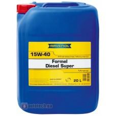 RAVENOL  Formel Super Diesel  15W-40 минеральное моторное масло  20л.