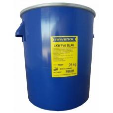 RAVENOL Смазка для грузовых авто и спецтехники LKW Fett Blau синего цвета (25 кг)