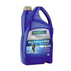 RAVENOL Outboardoel 2T полусинтетическое моторное масло для лодочных моторов  4 л